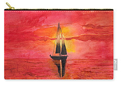 Red Sky At Night Sailors Delight Watercolor Carry-all Pouch