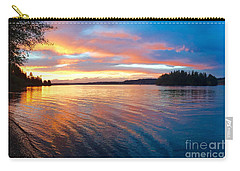 Red Sky At Night Carry-all Pouch by Sean Griffin