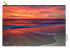 Red Sky In Morning Carry-all Pouch by Dianne Cowen