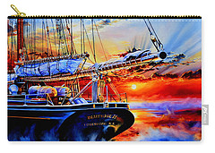 Carry-all Pouch featuring the painting Red Sky In The Morning by Hanne Lore Koehler
