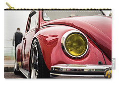 Carry-all Pouch featuring the photograph Red Slammed Vw Beetle by Will Gudgeon