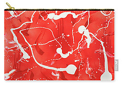 Carry-all Pouch featuring the painting Red Spill by Thomas Blood