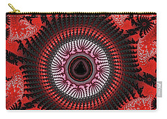Red Spiral Infinity Carry-all Pouch