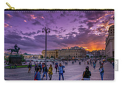 Red Square At Sunset Carry-all Pouch
