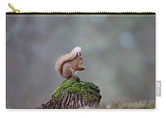Red Squirrel Peeling A Hazelnut Carry-all Pouch
