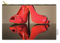 Carry-all Pouch featuring the photograph Red Stiletto Shoes by Terri Waters
