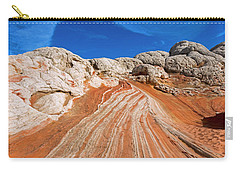 Carry-all Pouch featuring the photograph Red Stone Highway by Mike Dawson