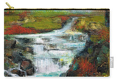 Yellow Fields With Red Sumac Carry-all Pouch by Frances Marino