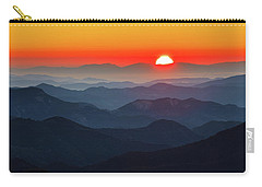 Red Sun In The End Of Mountain Range Carry-all Pouch