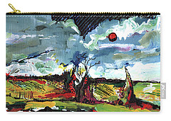 red Sun Carry-all Pouch by John Jr Gholson