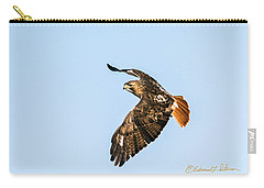 Red-tail Hawk In Flight Carry-all Pouch