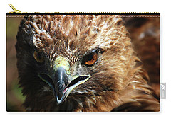 Carry-all Pouch featuring the photograph Red-tail Hawk Portrait by Anthony Jones