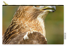 Carry-all Pouch featuring the photograph Red-tailed Hawk Close-up by Ann Bridges