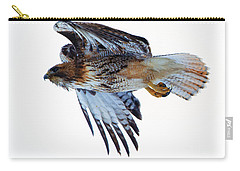 Red-tailed Hawk Winter Flight Carry-all Pouch by Mike Dawson