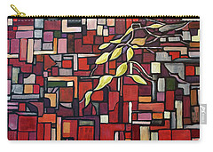 Carry-all Pouch featuring the painting Red Tango by Joanne Smoley
