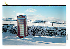 Red Telephone Box In The Snow V Carry-all Pouch
