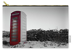 Red Telephone Box In The Snow Vi Carry-all Pouch