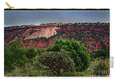 Carry-all Pouch featuring the photograph Red Terrain - New Mexico by Diana Mary Sharpton