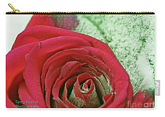 Carry-all Pouch featuring the digital art Red by Terry Foster