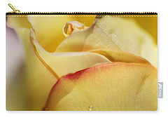 Red Tipped Yellow Rose Carry-all Pouch by Joy Watson