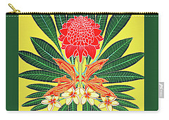 Red Torch Ginger Carry-all Pouch by Debbie Chamberlin