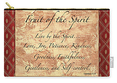 Red Traditional Fruit Of The Spirit Carry-all Pouch