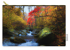 Red Tree In White Oak Canyon Carry-all Pouch