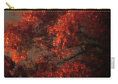 Red Tree Scene Carry-all Pouch by Mikki Cucuzzo