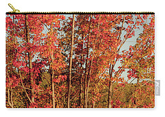 Carry-all Pouch featuring the photograph Red Trees by Iris Greenwell