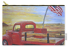 Red Truck Carry-all Pouch by Debbie Baker