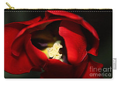 Carry-all Pouch featuring the photograph Red Tulip by Jolanta Anna Karolska