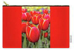 Red And Yellow Tulips I Carry-all Pouch