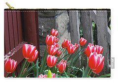 Red Tulips In A Wisconsin Garden Carry-all Pouch