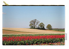 Red Tulips Landscape Carry-all Pouch