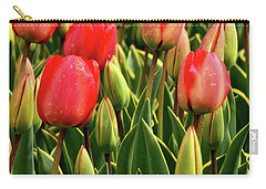 Red Tulips Carry-all Pouch by Mihaela Pater