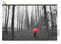 Red Umbrella In An Allee Carry-all Pouch