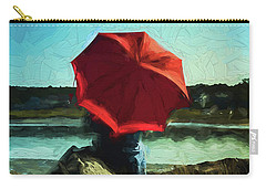 Red Umbrella Carry-all Pouch