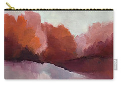 Carry-all Pouch featuring the painting Red Valley by Michelle Abrams