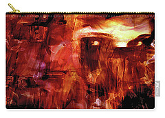 Carry-all Pouch featuring the photograph Red Veil by Linda Sannuti