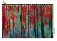Carry-all Pouch featuring the painting Red Velvet by Hailey E Herrera