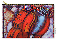 Carry-all Pouch featuring the painting Red Vespa by Mark Howard Jones