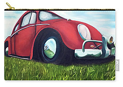 Red Vw Carry-all Pouch