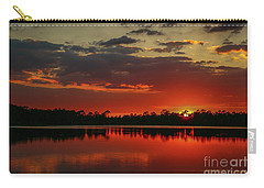 Red Water Sunset Carry-all Pouch
