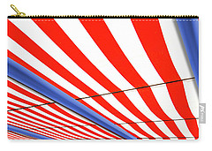 Carry-all Pouch featuring the photograph Red White And Blue by Paul Wear