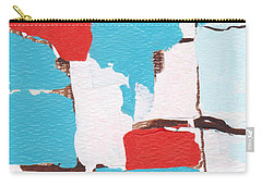 Carry-all Pouch featuring the painting Red White Blue Abstract 31317 by Patricia Cleasby