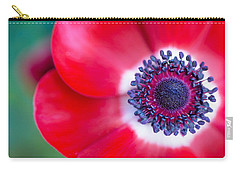 Red White Blue Anemone Carry-all Pouch