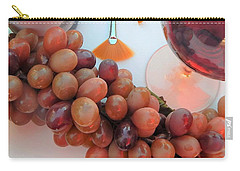 Red Wine And Brushes With Grapes Carry-all Pouch