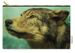 Carry-all Pouch featuring the digital art Red Wolf Digital Art by Chris Flees