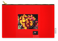 Carry-all Pouch featuring the photograph Red Yellow Pink Roses 1 by Richard W Linford
