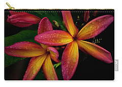 Red/yellow Plumeria In Bloom Carry-all Pouch